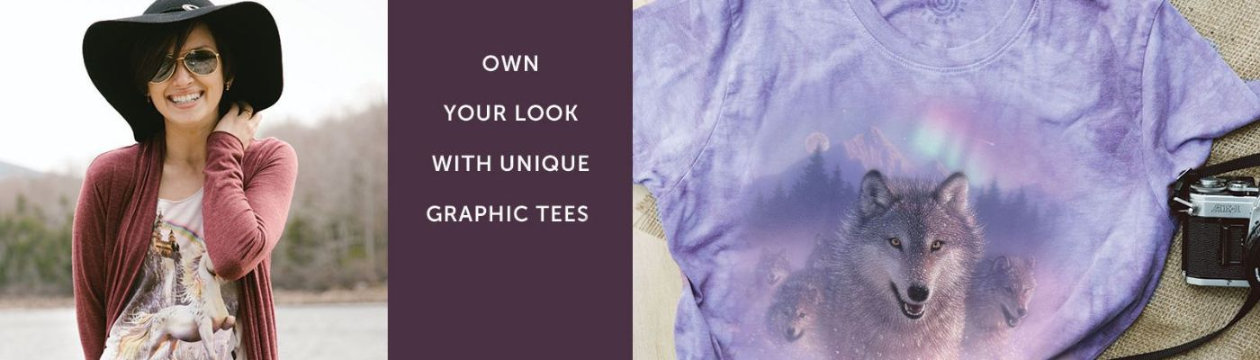 Own your look with unique graphic tees  from The Mountain®