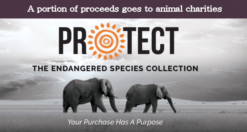 Your purchase has a purpose. Endangered animal themed t-shirts and gifts from the Protection Collection.