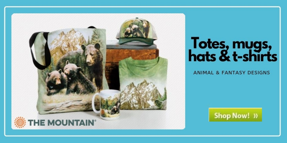 Totes, mugs, hats & t-shirts from The Mountain® Animal and fantasy designs