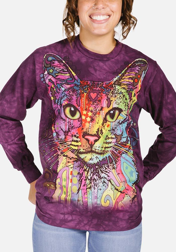 Abyssinian Long Sleeve T-shirt | Cat T-Shirts | The Mountain® UK