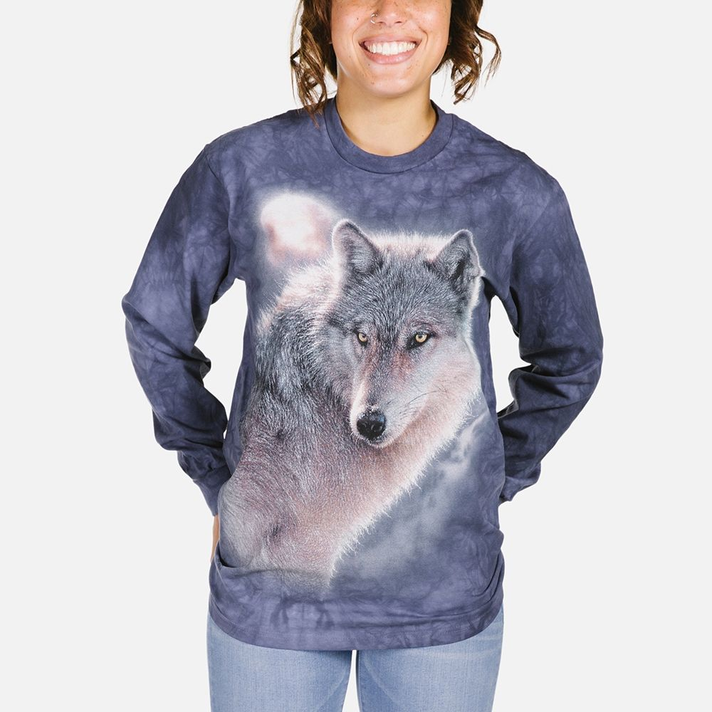 Adventure Wolf - Adult Long Sleeve T-shirt - The Mountain®