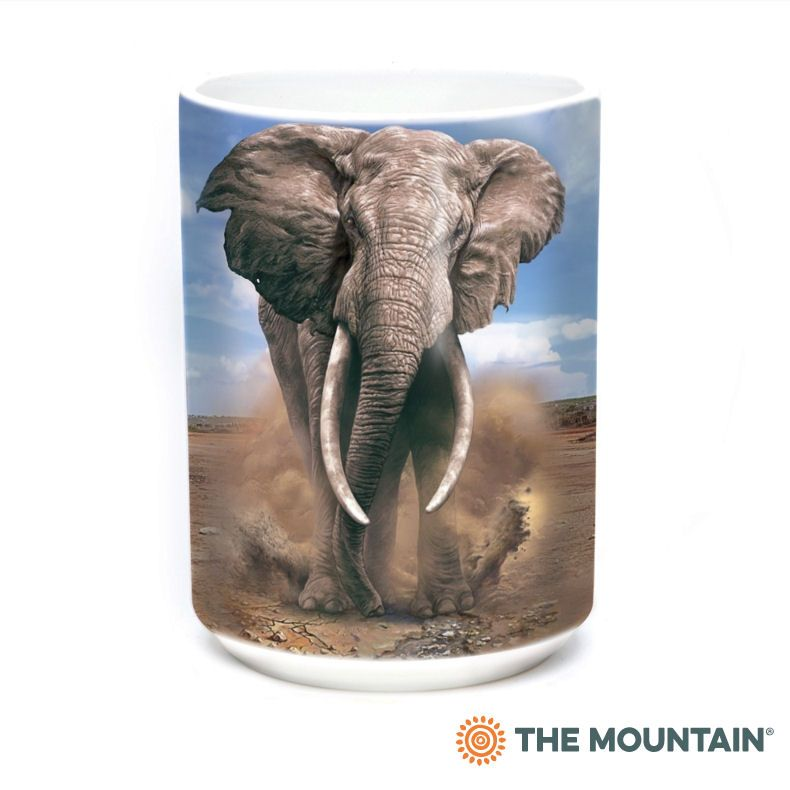African Elephant Ceramic Mug - The Mountain®