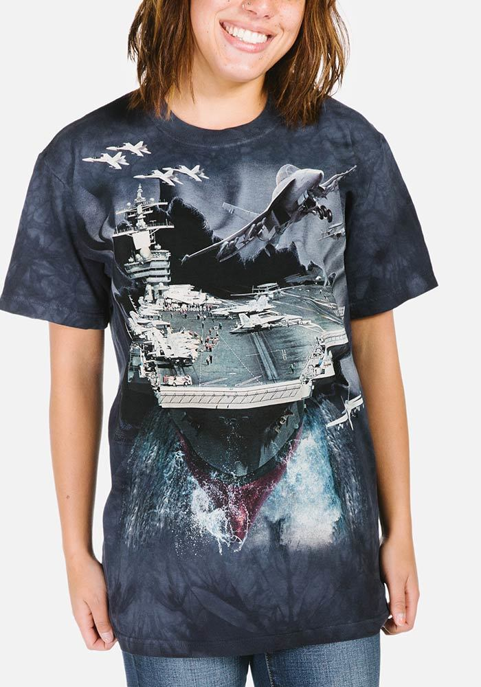 Aircraft Carrier Breakthrough - Adult Aviation T-shirt - The Mountain®