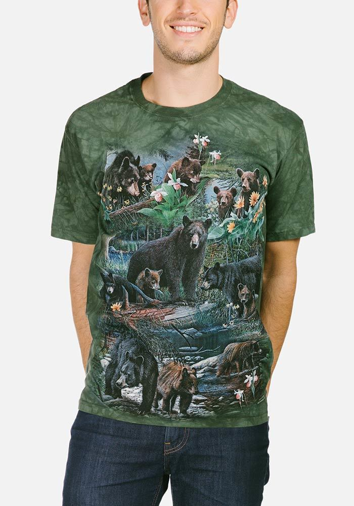 Bear Collage - Adult Wildlife T-shirt - The Mountain®