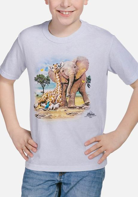 Best Pals - Kids Giraffe & Elephant T-shirt - The Mountain®