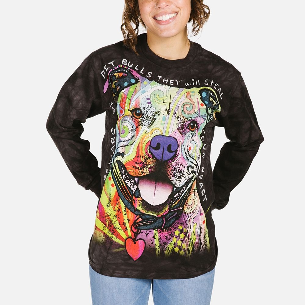 Beware of Pit Bulls - Adult Long Sleeve T-shirt - The Mountain®