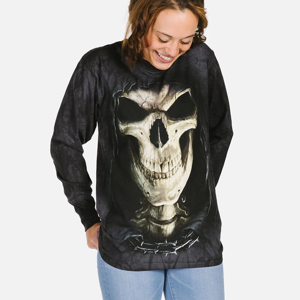 Big Face Death - Adult Long Sleeve T-shirt - The Mountain®