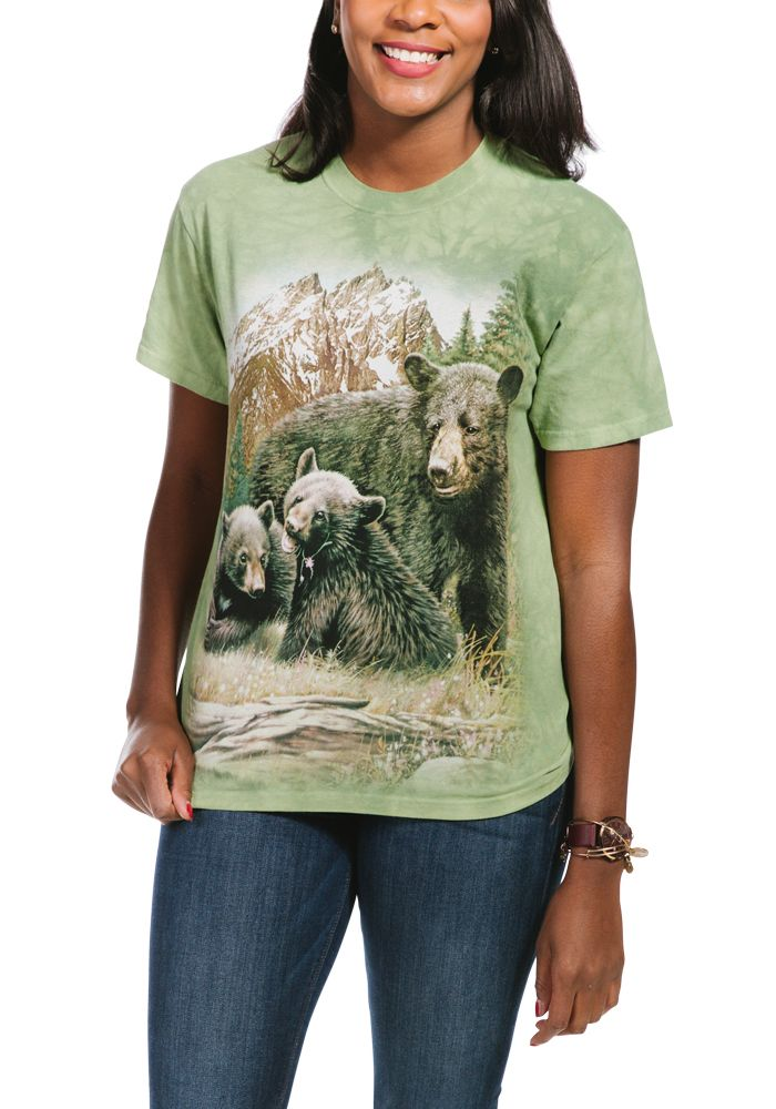 Black Bear Family - Adult Bear T-shirt - The Mountain®