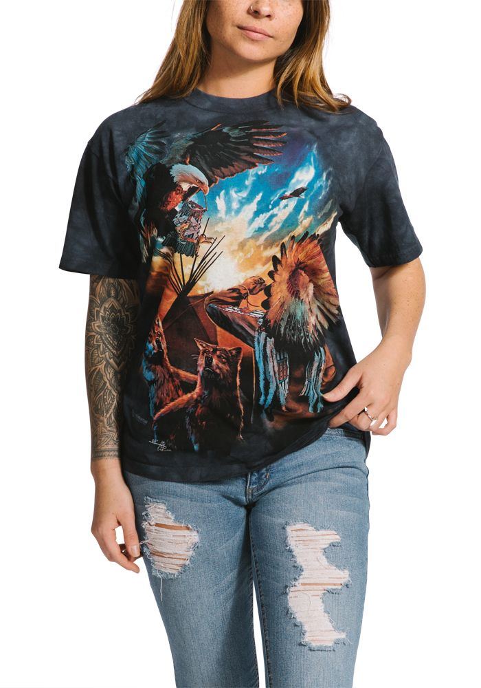 Blessings of Peace - Adult Native American T-shirt - The Mountain®