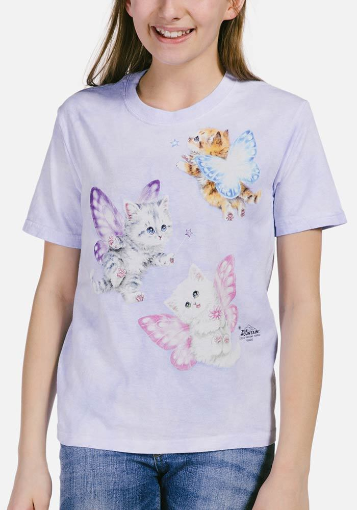 Butterfly Kitten Fairies - Kids Fantasy T-shirt - The Mountain®