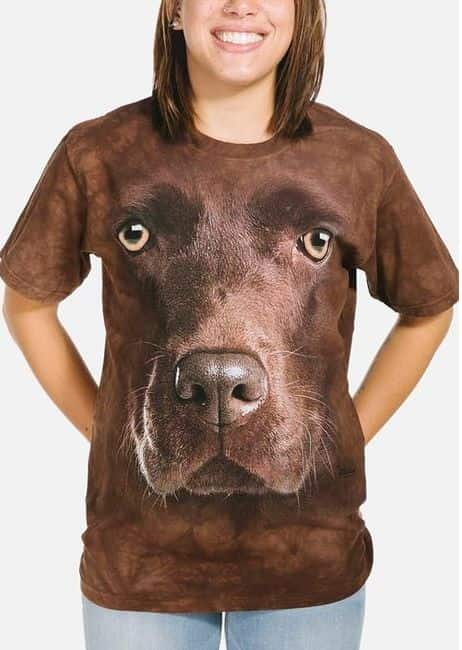 Chocolate Lab Face - Adult Big Face™ Dog T-shirt - The Mountain®