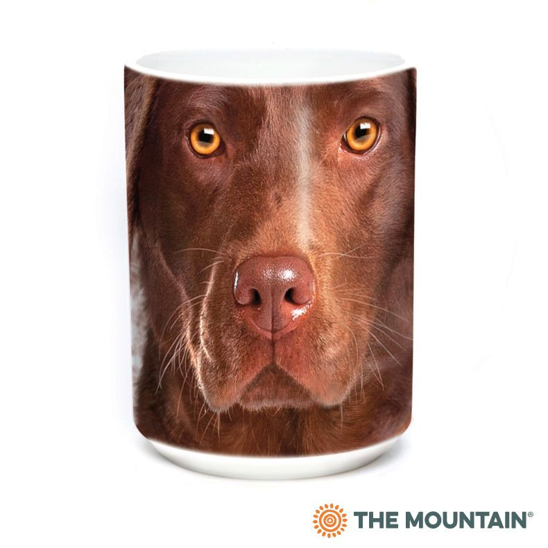 Chocolate Lab Face Ceramic Mug - The Mountain® | Vincent Hie