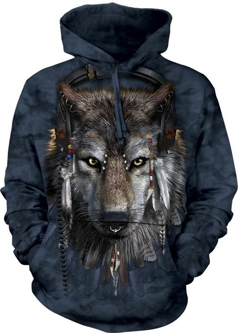 Adult DJ Fen Wolf Hoodie | The Mountain® | Wolf hooded Sweatshirts