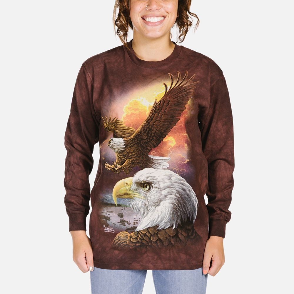 Eagle and Clouds - Adult Long Sleeve T-shirt - The Mountain®