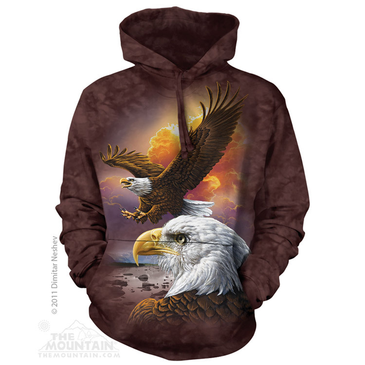 Eagle & Clouds Hoodie | The Mountain® | Adult Hooded Sweatshirts