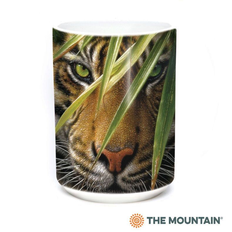 Emerald Forest Tiger Ceramic Mug - The Mountain® | Collin Bogle