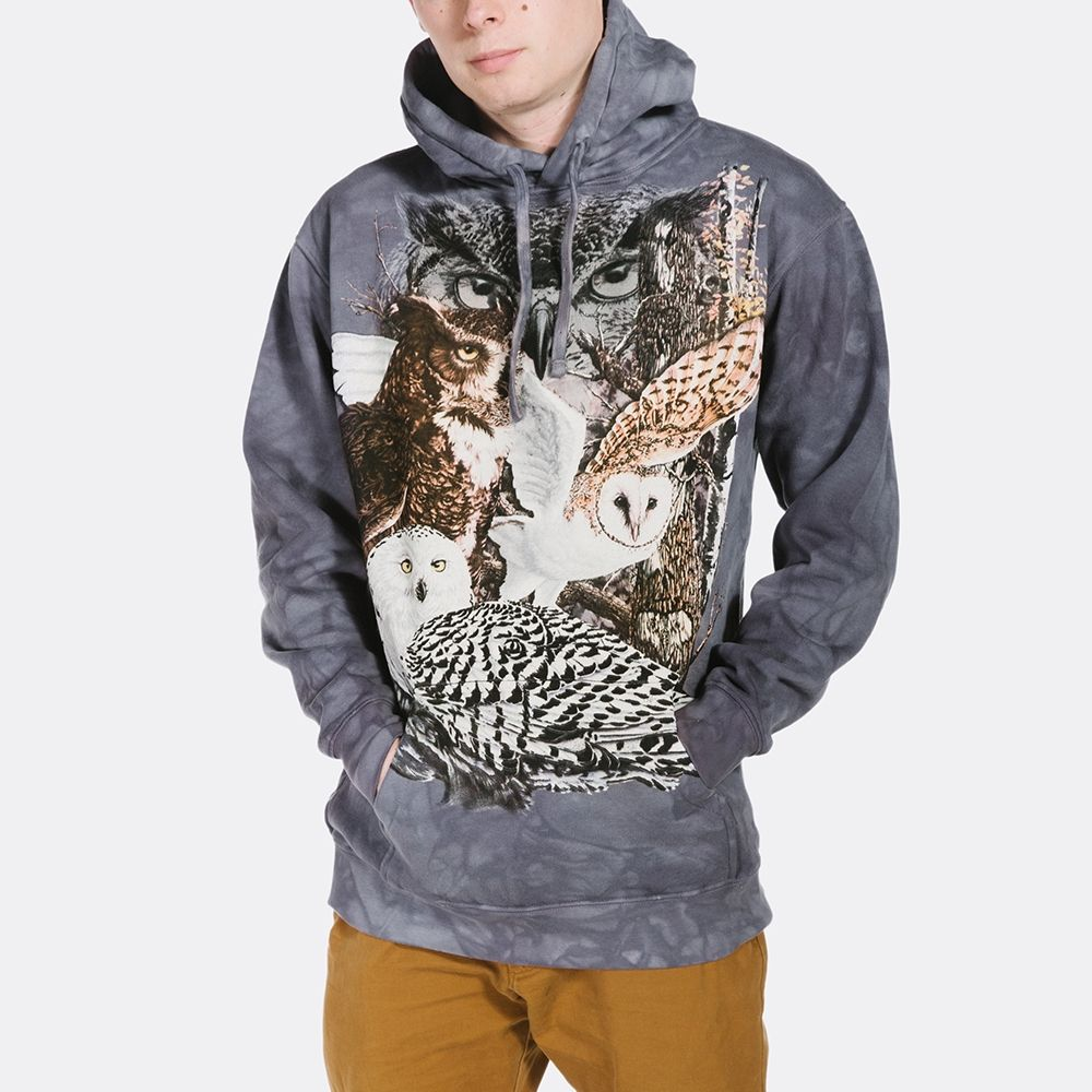Find 11 Owls - Adult Hoodie Sweatshirt - The Mountain®