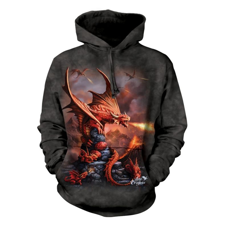 Fire Dragon - Adult Hoodie  Sweatshirt - The Mountain®