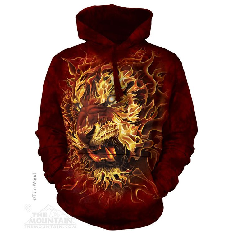 Fire Tiger - Adult  Hoodie Sweatshirt - The Mountain®