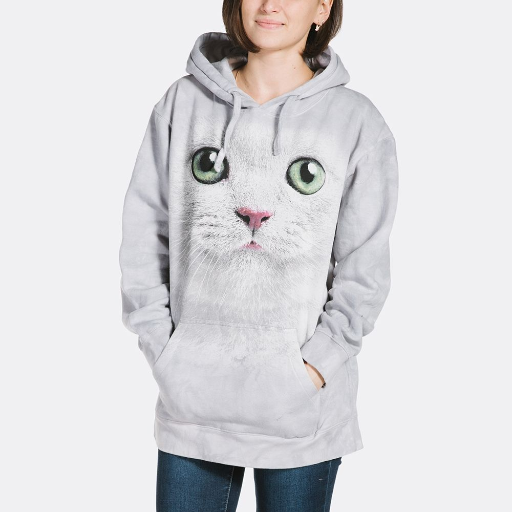 Adult Green Eyes Cat Face Hoodie Sweatshirt | Hooded Sweatshirts | The Mountain®