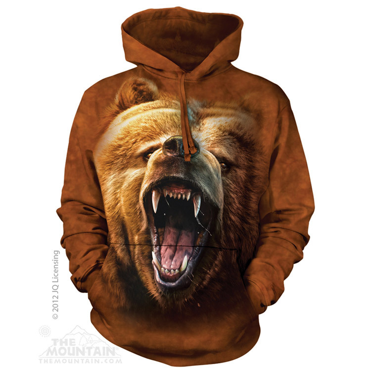 Grizzly Growl - Adult Hoodie Sweatshirt - The Mountain®