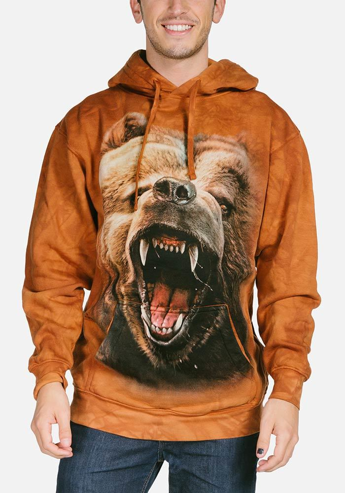 Adult Grizzly Growl Hoodie Sweatshirt | Bear Hooded Sweatshirt | The Mountain®