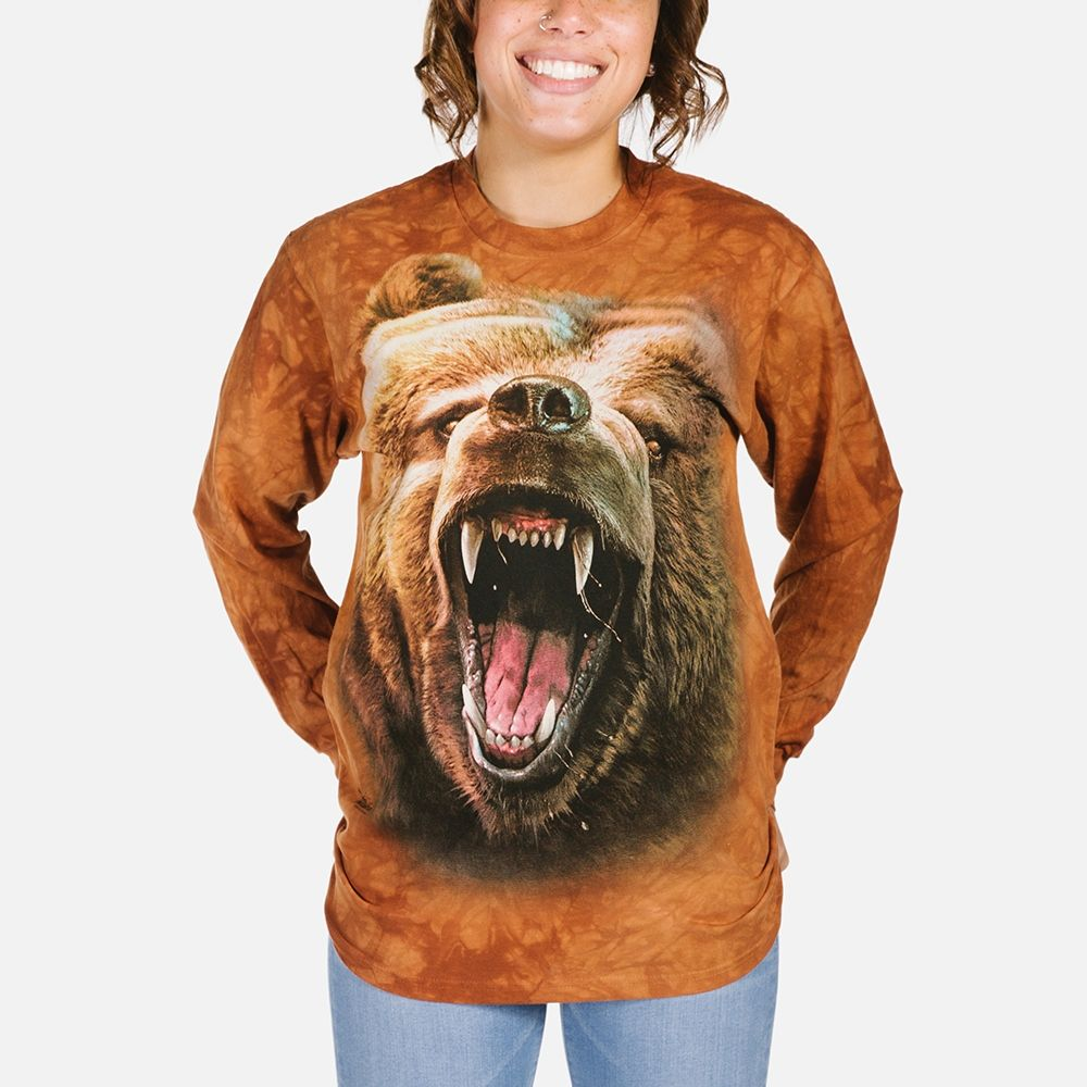 Grizzly Growl - Adult Long Sleeve T-shirt - The Mountain®