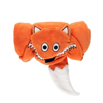 Hooded Critter Fleece Blanket Fox - Lazy One®