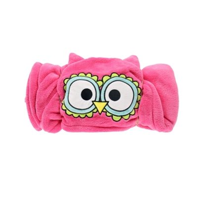 Hooded Critter Fleece Blanket Owl - Lazy One®