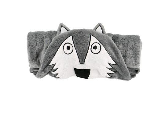 Hooded Critter Fleece Blanket Wolf - Lazy One® | Critter Blankets