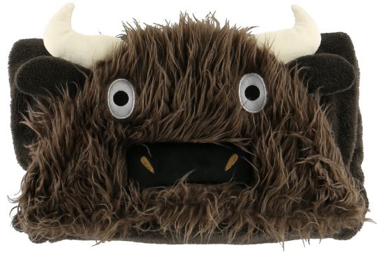 Hooded Critter Fleece Buffalo Blanket - Lazy One®
