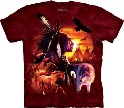 Indian Collage - Native American T-shirt - The Mountain®