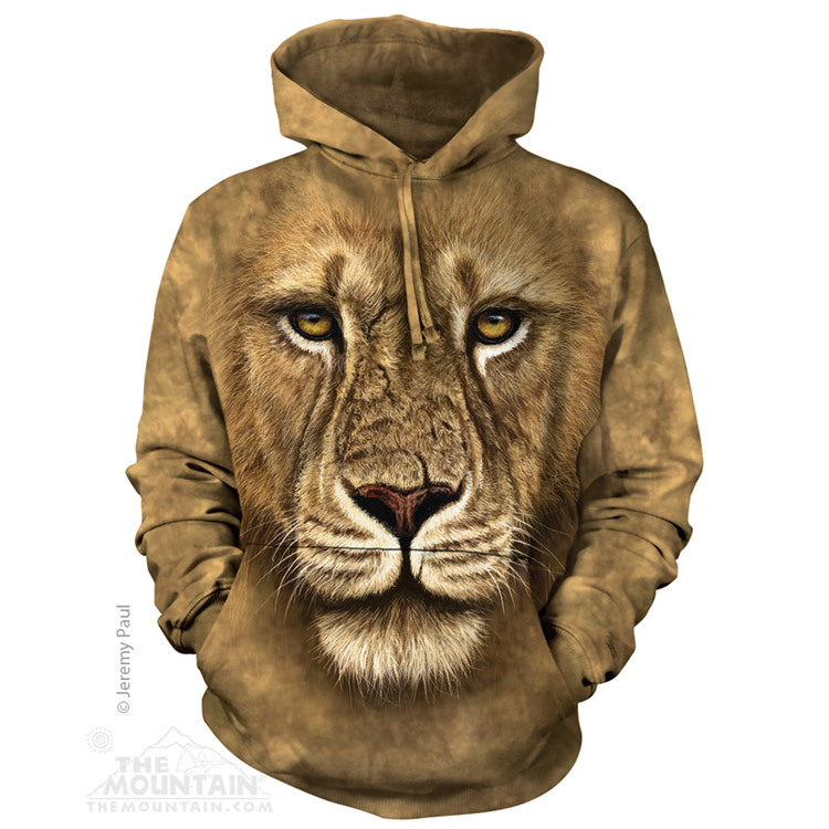 Adult Lion Warrior Hoodie Sweatshirt | The Mountain®