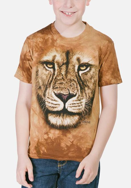 Lion Warrior - Kids Big Face™ T-shirt - The Mountain®