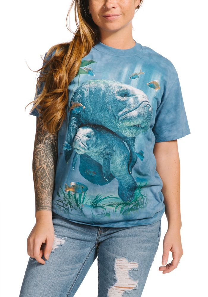 Manatees Collage - Adult Aquatic T-shirt - The Mountain®