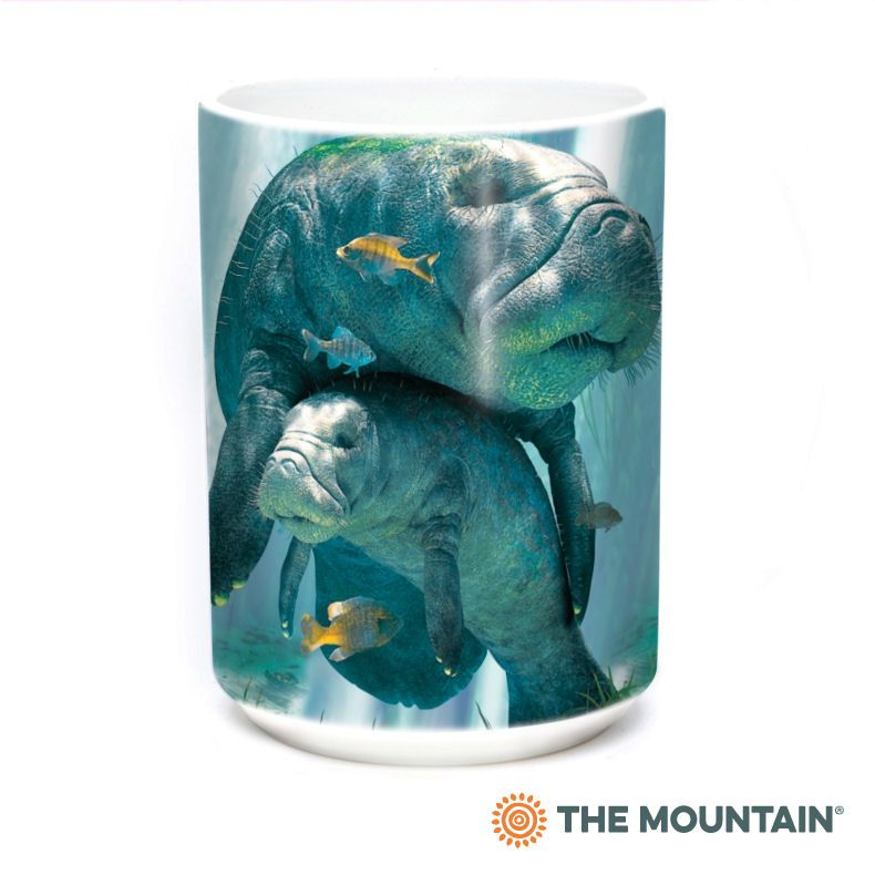 Manatees Collage Ceramic Mug - The Mountain®