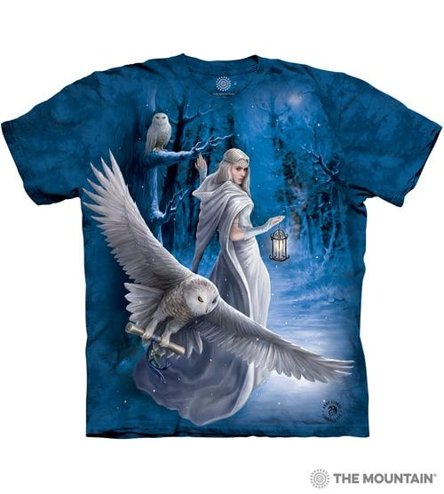 Midnight Messenger T-shirt | The Mountain® | Anne Stoke T-shirts | Fantasy Owl T-shirts