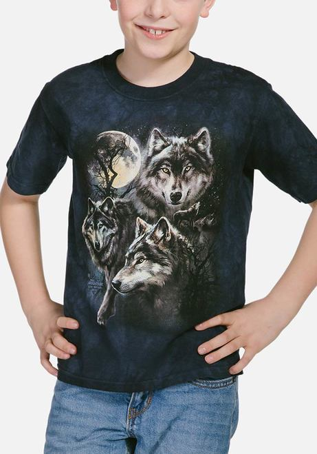 Moon Wolves Collage - Kids Wolf T-shirt - The Mountain®