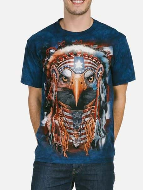 Native Patriot Eagle - Native American T-shirt - The Mountain®