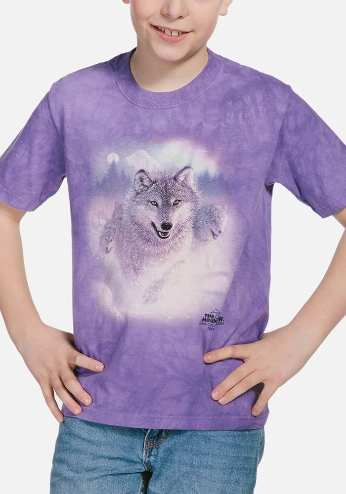 Northern Lights - Kids Wolf T-shirt - The Mountain®