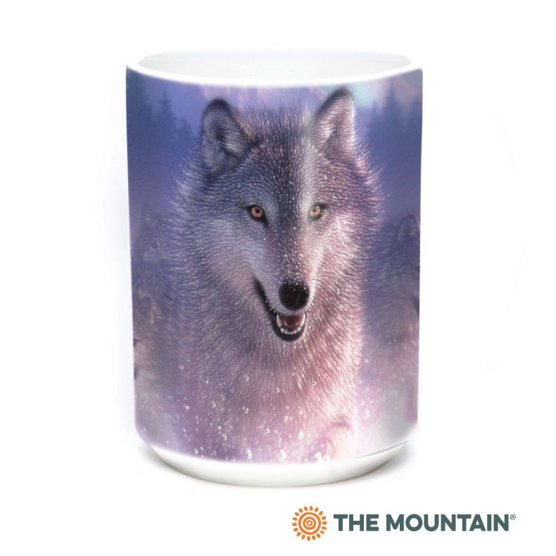 Northern Lights Wolf Ceramic Mug - The Mountain®