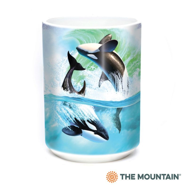Orca Wave Ceramic Mug | The Mountain® | Jerry LoFaro