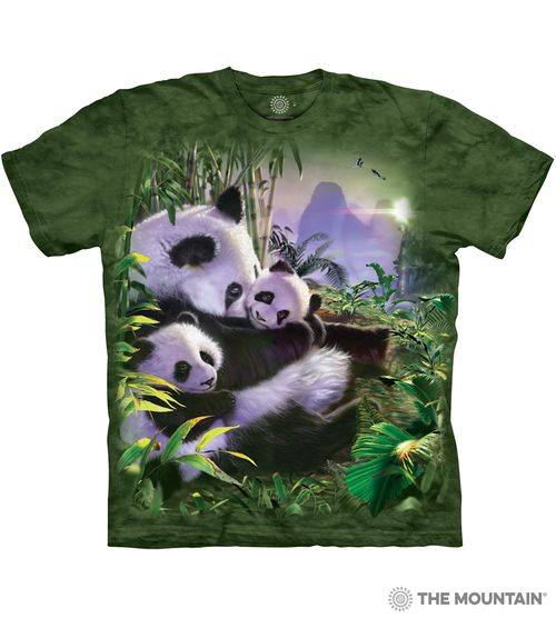Panda Cuddles - Adult Panda Bears T-shirt - The Mountain® | Tam's Treasures