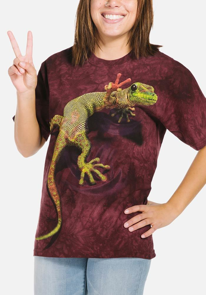 Peace Out Gecko - Adult Reptile T-shirt - The Mountain®