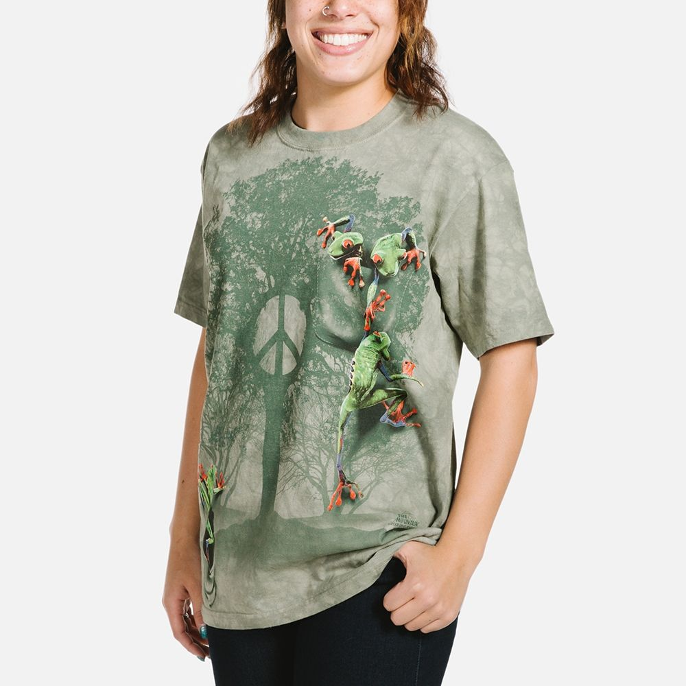 Peace Tree Frog T-shirt | Frog T-shirts | The Mountain®