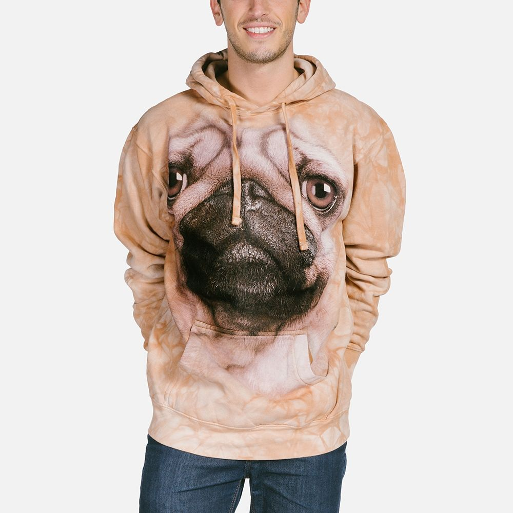Pug Face - Adult Hoodie Sweatshirt - The Mountain®
