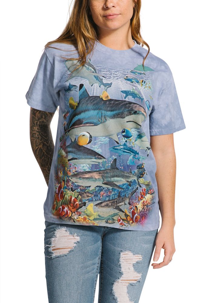 Reef Sharks - Adult Aquatic T-shirt - The Mountain®