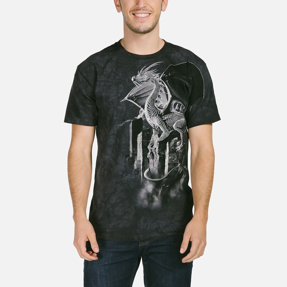 Silver Dragon - Adult Fantasy T-shirt - The Mountain®