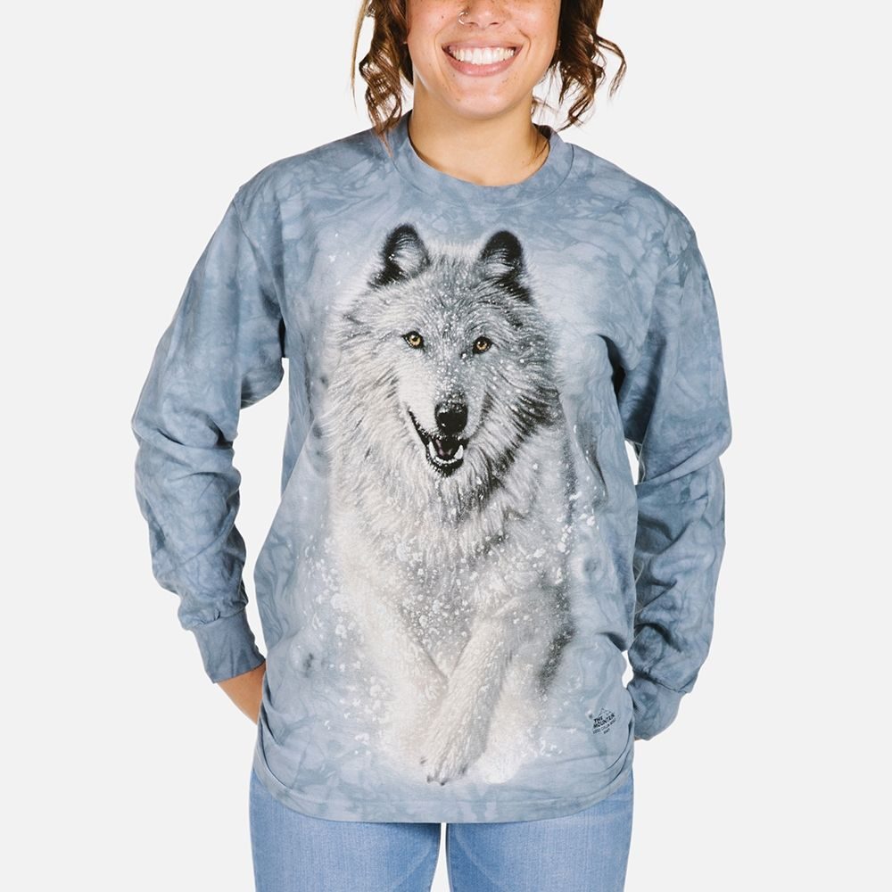 Snow Plow - Adult Wolf Long Sleeve T-shirt - The Mountain®