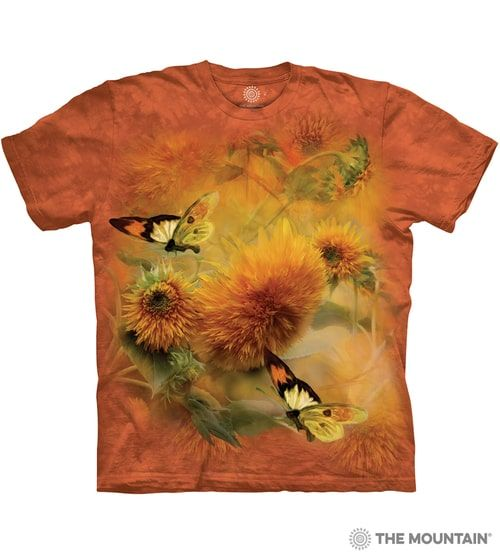 Sunflowers and Butterflies T-shirt - The Mountain®
